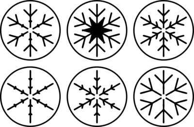 JRV Mini Snowflakes Stencil