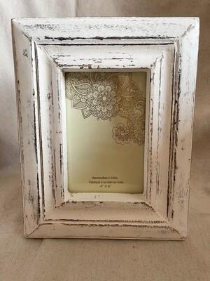 White Rustic 4x6 Frame