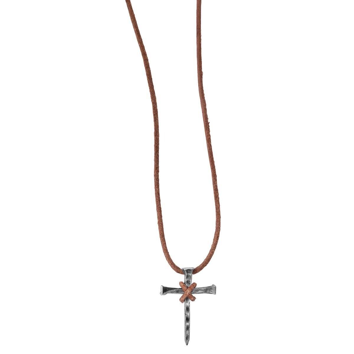 Faith Gear Nail Cross Necklace