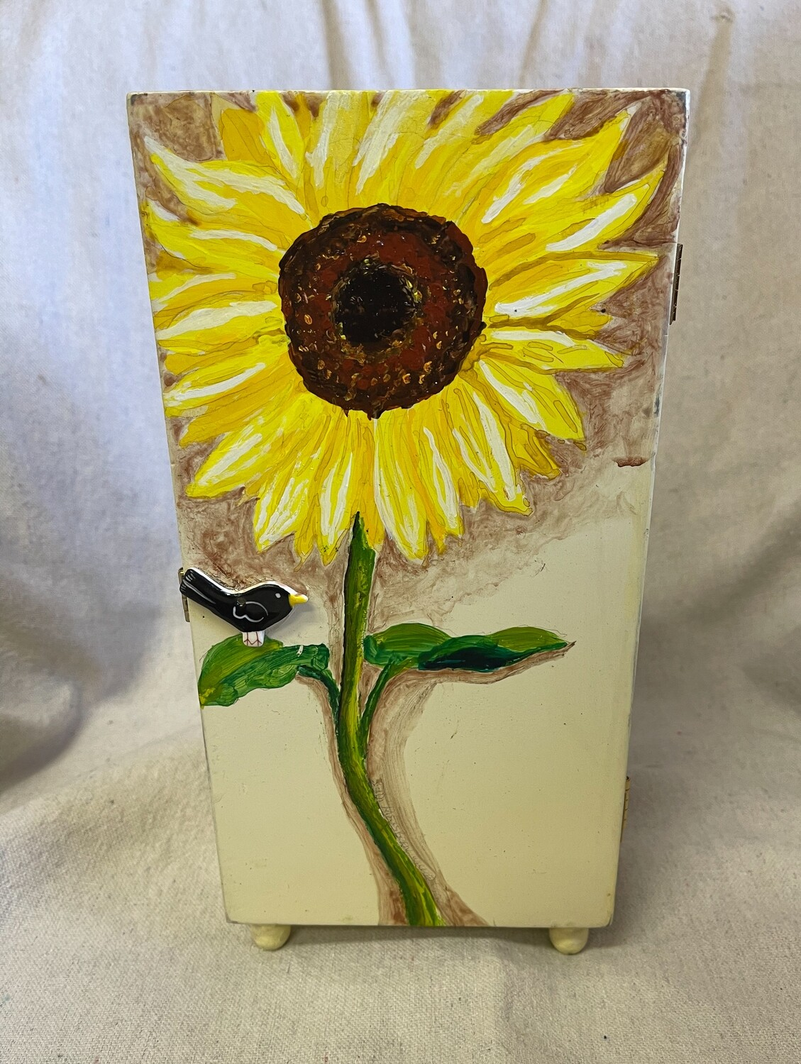 Hand Painted Mini Footed Cabinet