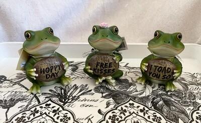Ceramic Frog Figurine