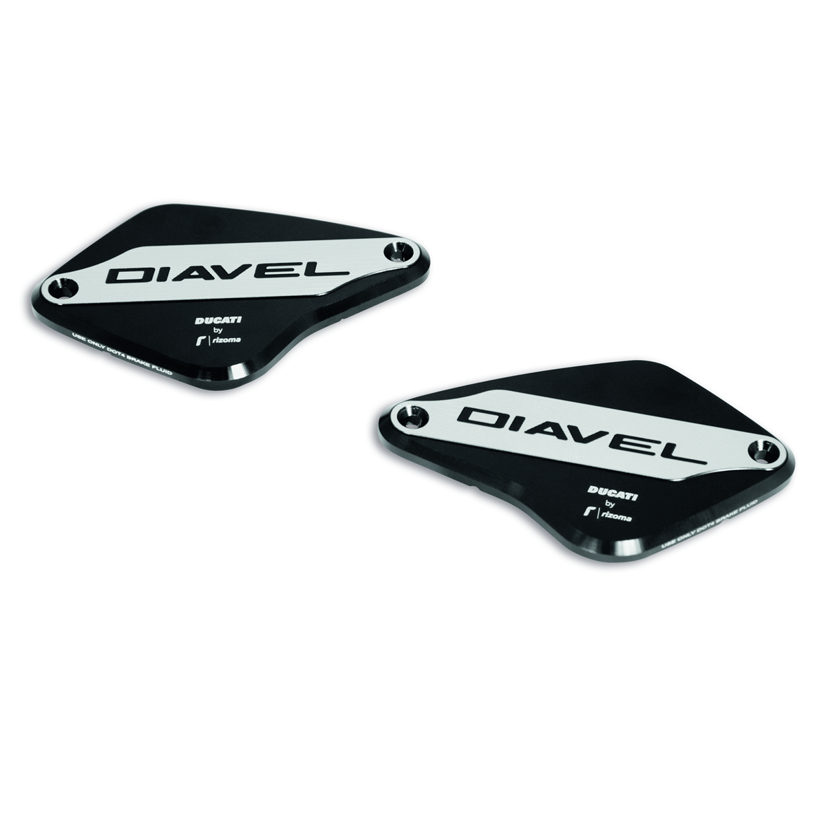 Diavel 1260 Covers for brake and clutch fluid reservoir