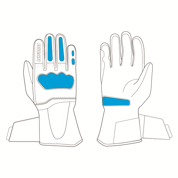 Strada C4 - Fabric-leather gloves