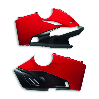 RED RACING EXHAUST LOWER FAIRING SET