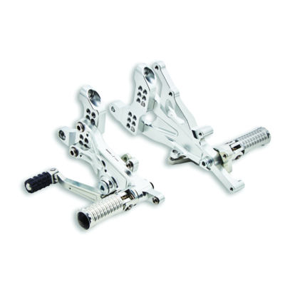Adjustable rider footpeg kit.