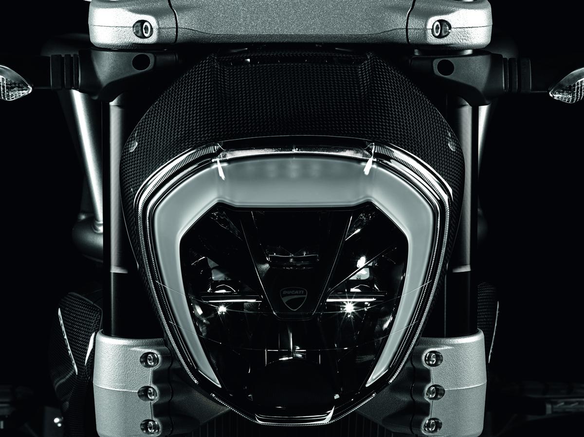 Carbon headlight frame.