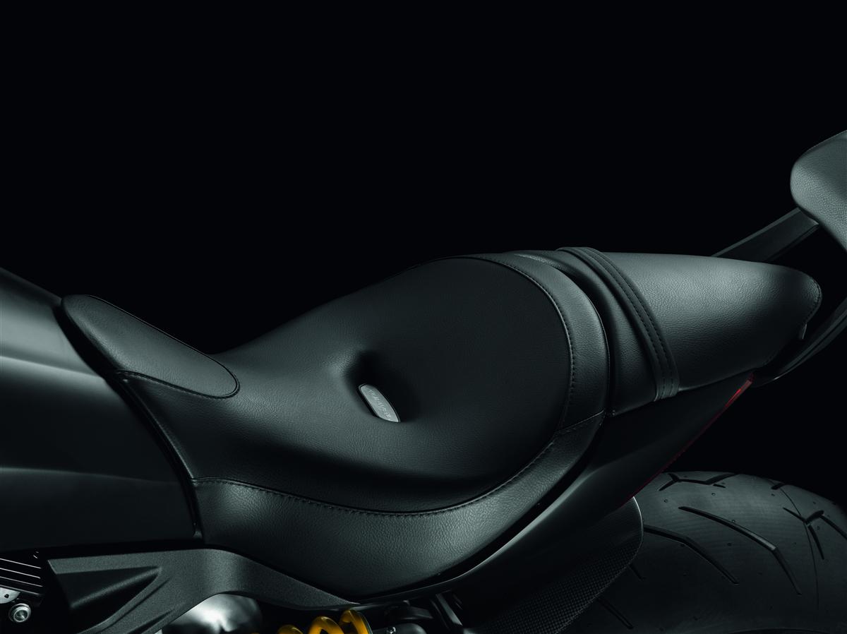 Raised rider seat.