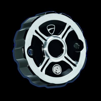 Rear brake fluid reservoir cover.