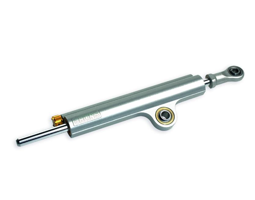 Öhlins adjustable steering damper.