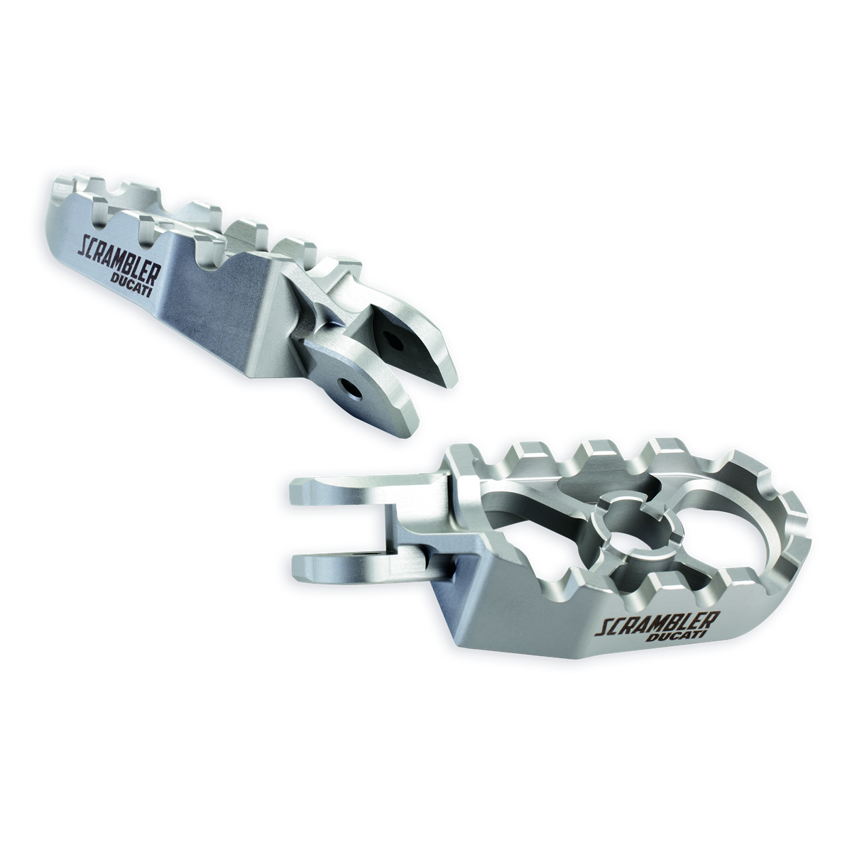 Billet aluminium footpegs.