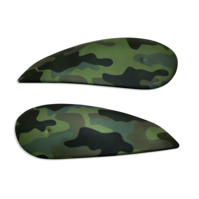 Camouflage tank side covers.