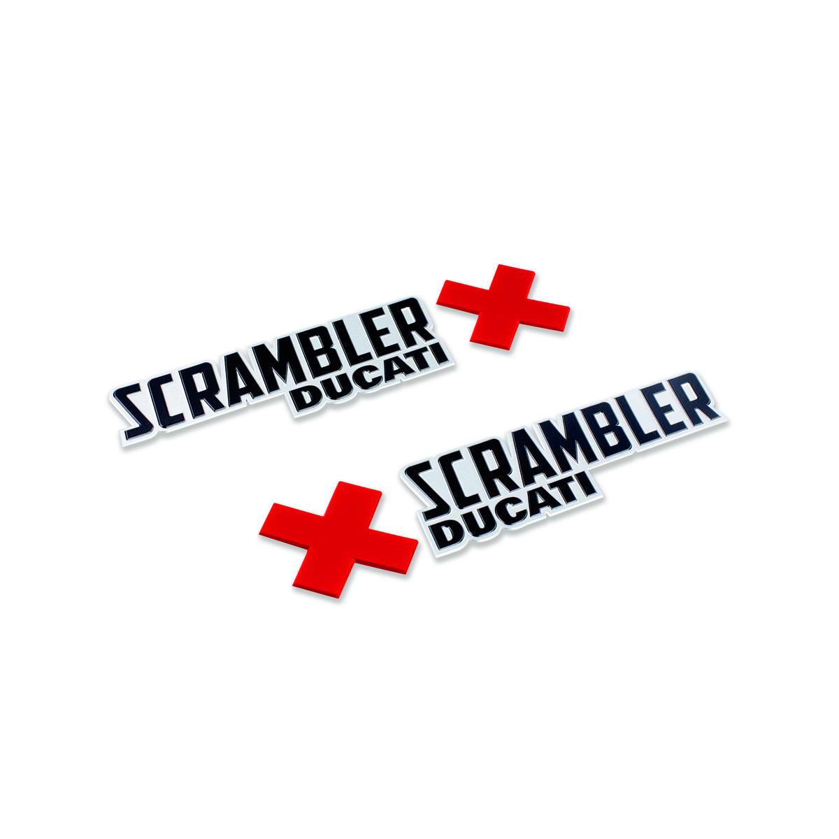 Set of Scrambler Urban Enduro logos.