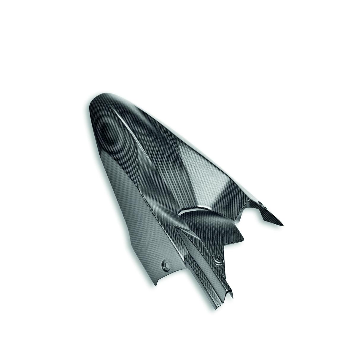 Carbon fiber rear mudguard.