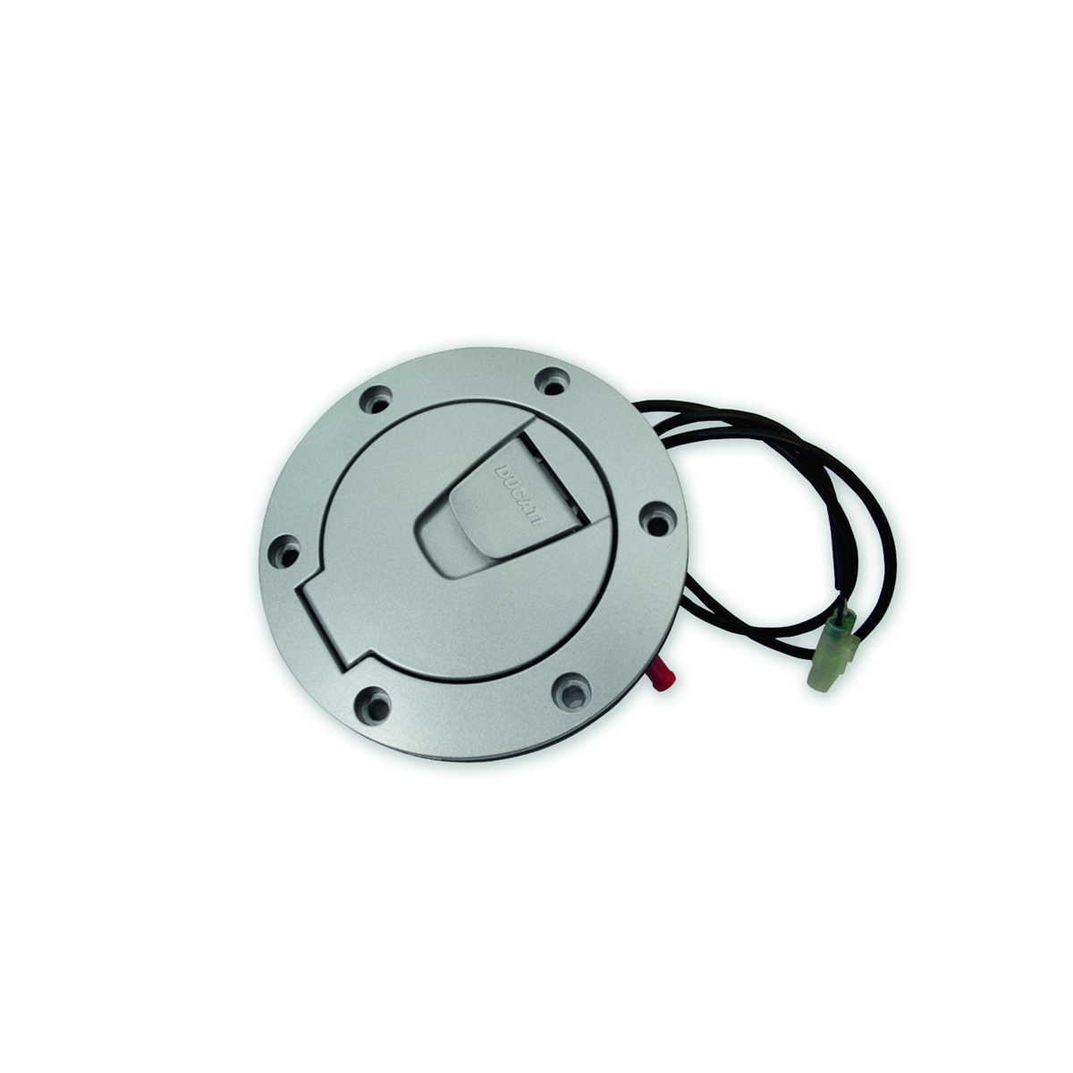 Hands-free tank filler plug.
