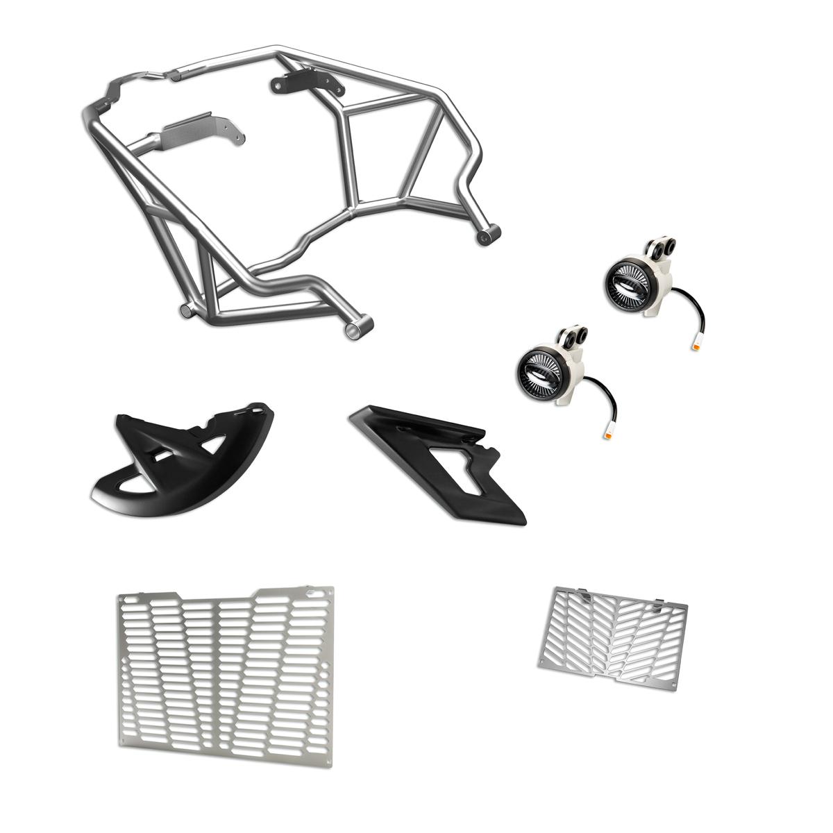 Multistrada 1200 Enduro accessory package.