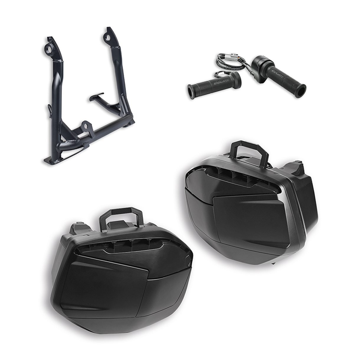 Multistrada 1200 Touring accessory package.