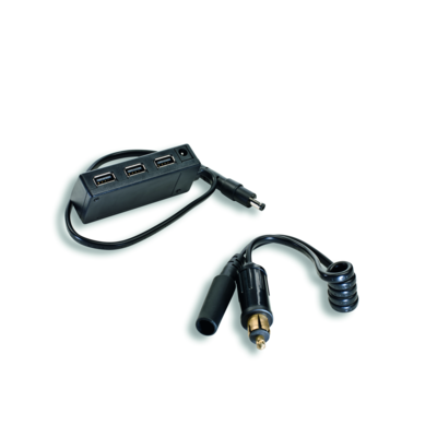 Power extension cable with USB port.