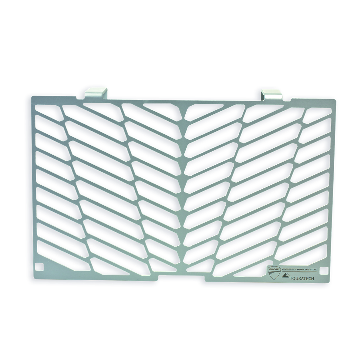 Protective mesh for oil cooler.