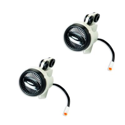 Set of additional LED headlamps.