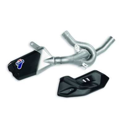 Complete racing exhaust kit with titanium silencer.