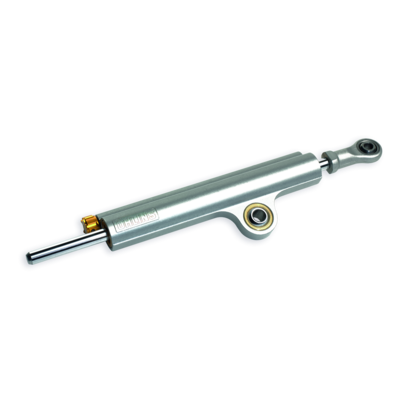 Öhlins adjustable steering damper.