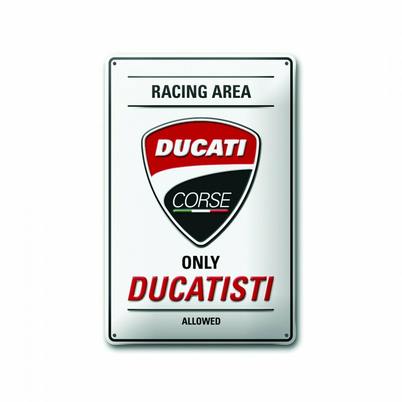 Metal plate Ducati Corse 20x30 cm