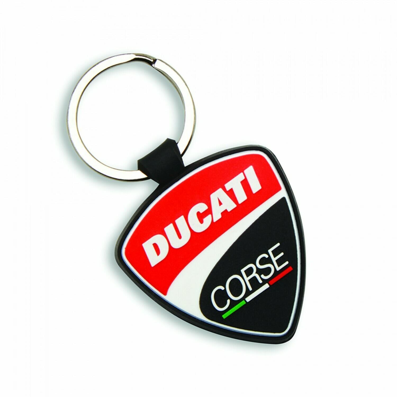 Rubber Key Ring Ducati Corse Shield