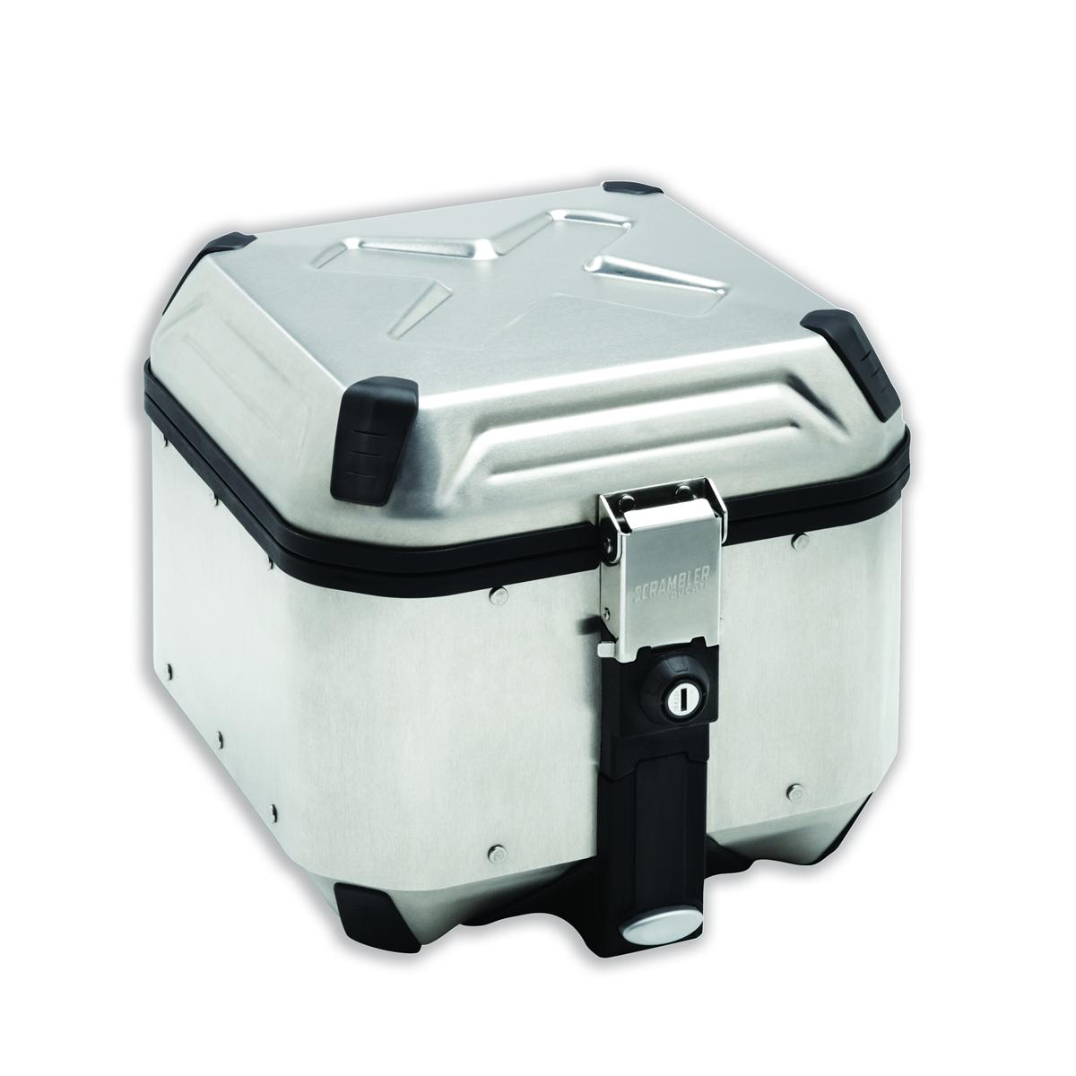 Aluminium top case.