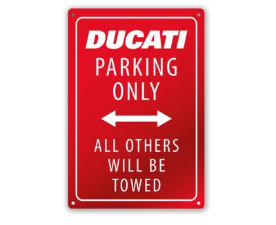 Ducati Parking Red - Metal plate