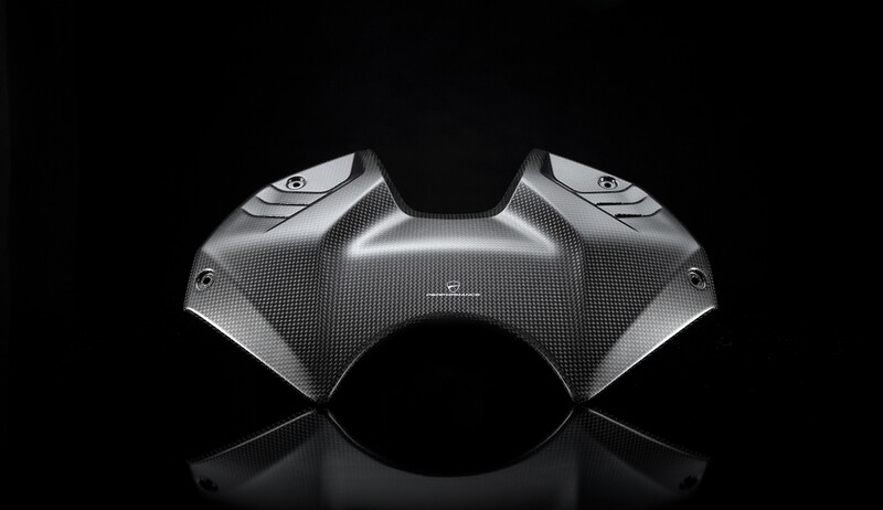 Carbon tank cover.
