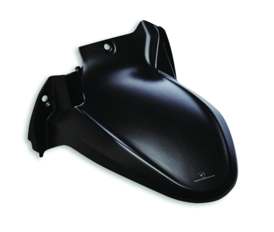 Carbon rear mudguard.