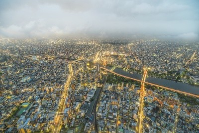 View Over Tokyo At Night
