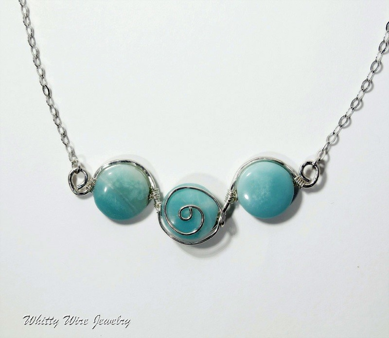 Amazonite with Sterling Silver Necklace