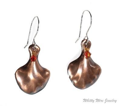 Copper Shell Dangle Earrings