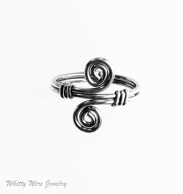 Sterling Silver Celtic Swirl Ring, custom made