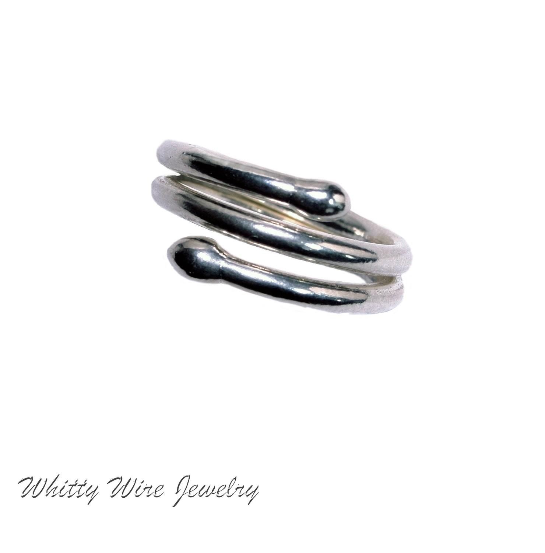 Fine Silver double Wrap ring- custom
