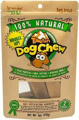 Tibetan Dog Chew Double Up  Dogs Under 35 pounds