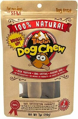 Tibetan Dog Chew Double up Pack Under 55 pounds