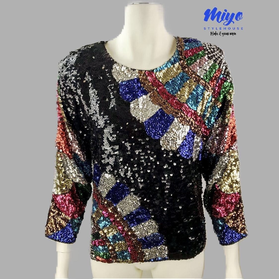 Sequin Glam Blouse - M/L