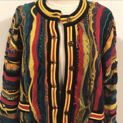Coogi Cardigan Sweater