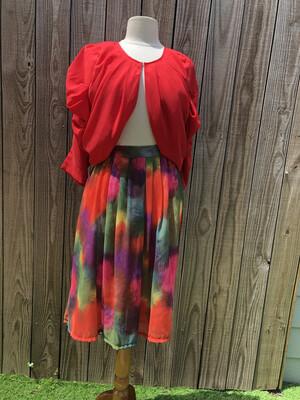 Watercolor skirt M