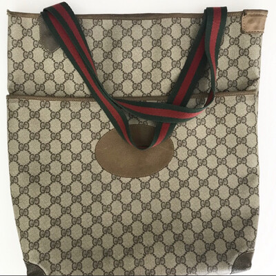 Vintage Gucci Tote W/ Front Pocket