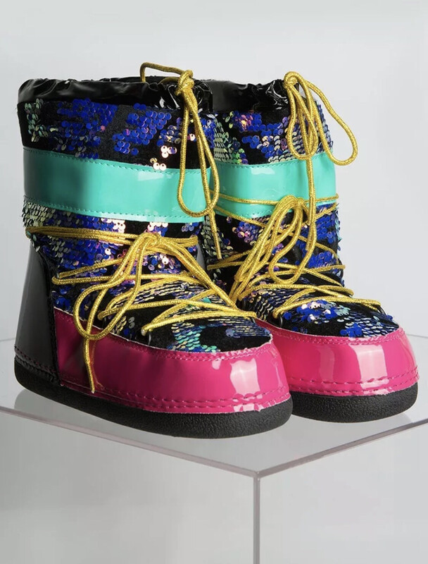 Sequin Pull on Boots