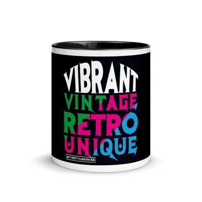 VVRU Black Mug with Color Inside