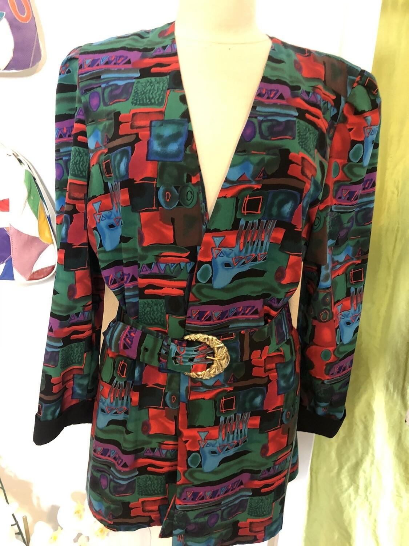 80's Print Blazer (#10) - M