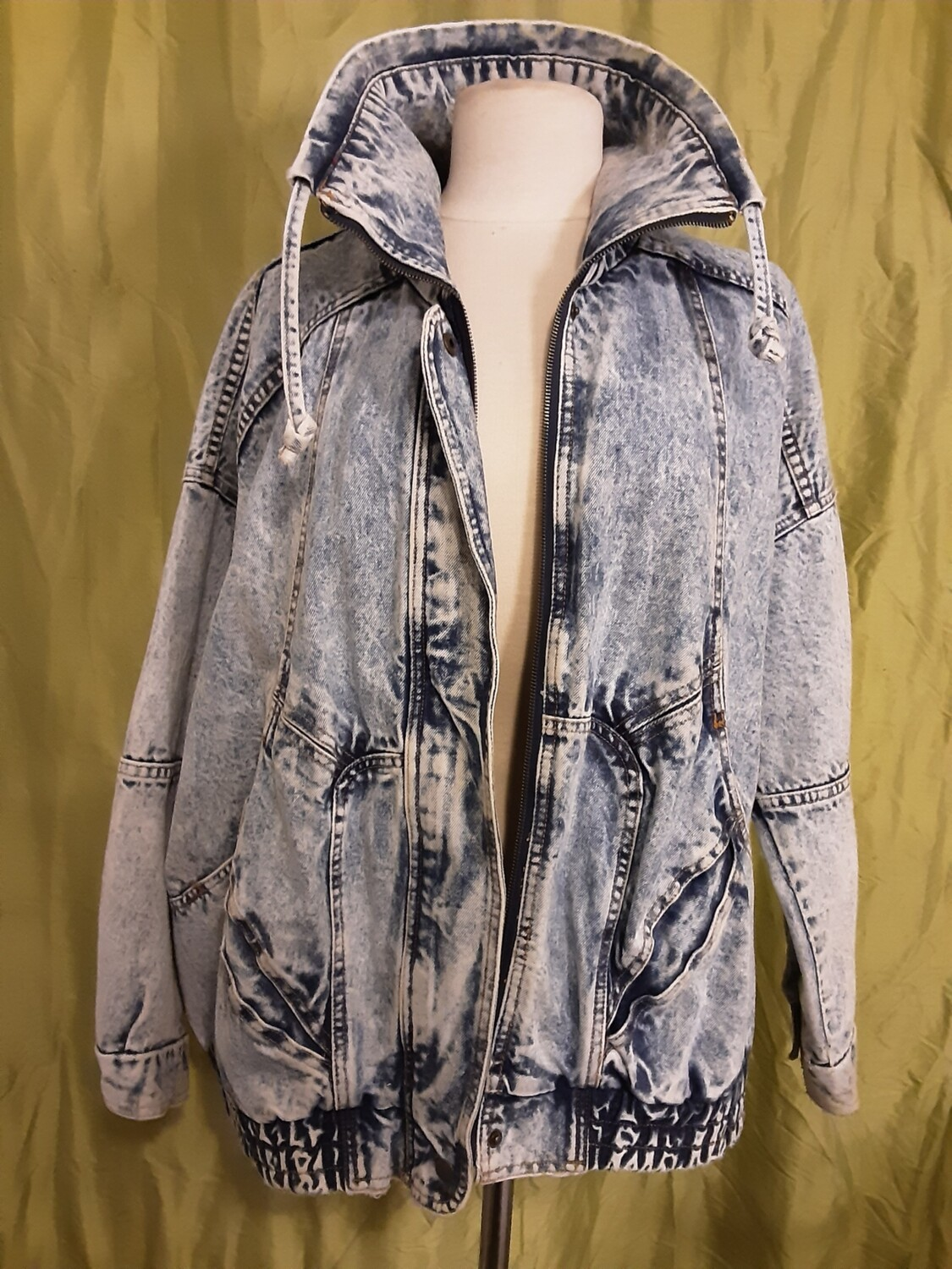Acid Washed Vintage Jacket - XL