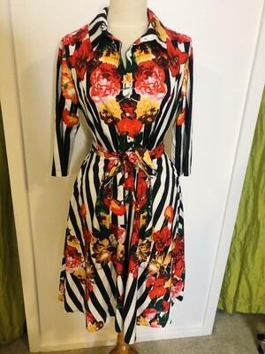 Fierce & Flowery Dress - L/XL