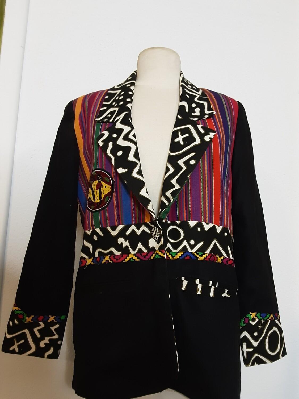 Ethnic Multicolor Blazer - S
