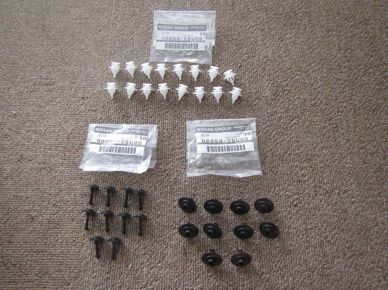 G6856-05U00 Side Skirt Clip Set FULL SET for R32 GTR RB26DETT - Free Shipping!
