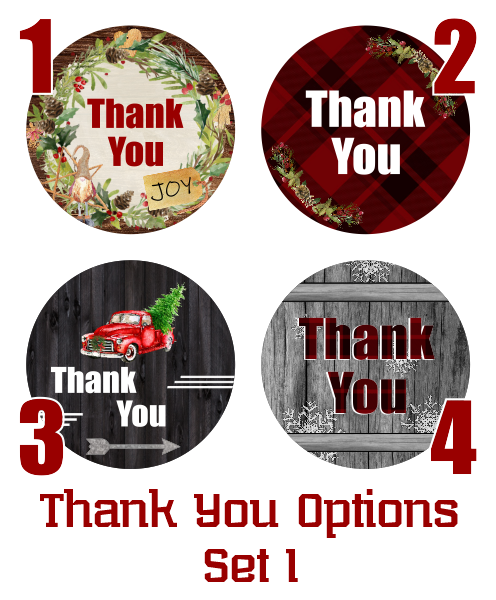 Holiday Thank You Stickers - Set 1